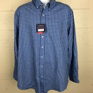 Croft & Borrow Men's Button Up Shirt Size XL Blue